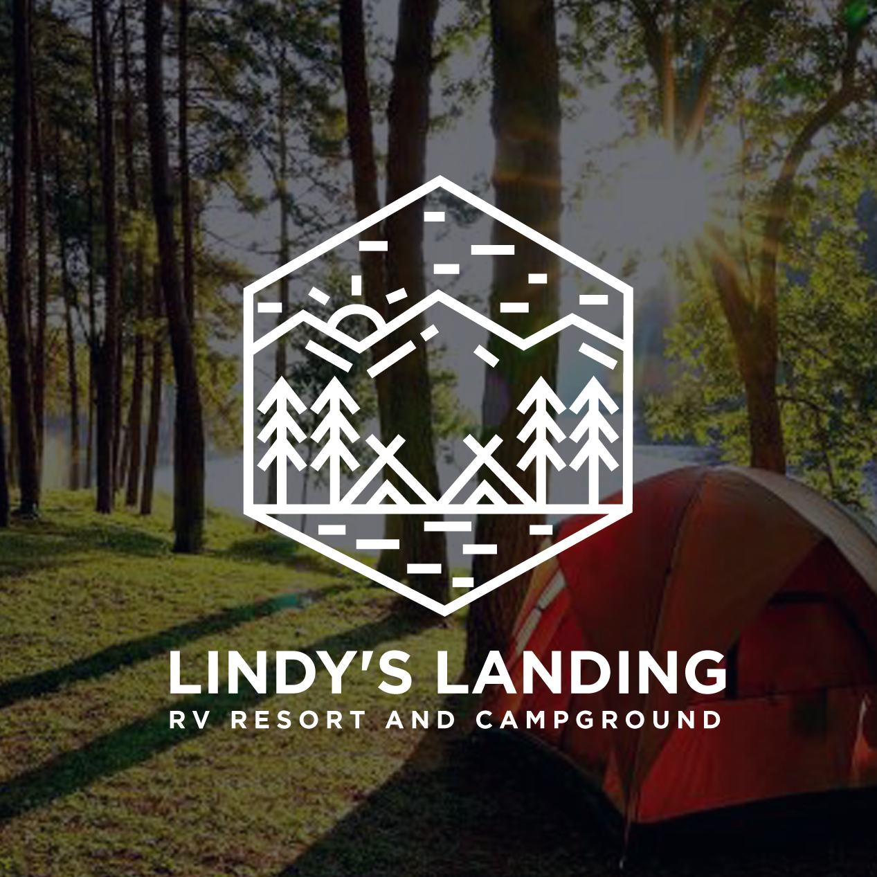 line art logo fro campground