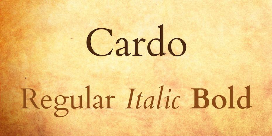 cardo font logo