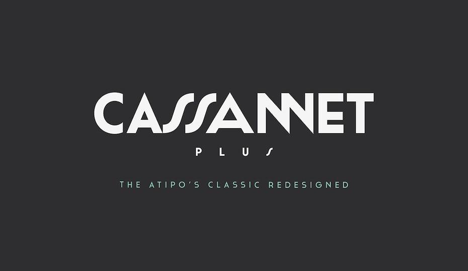 cassannet font logo