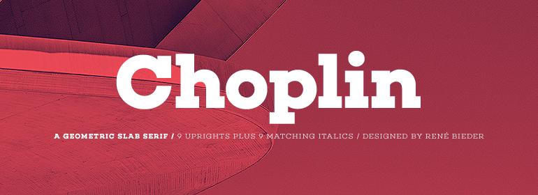 choplin logo font
