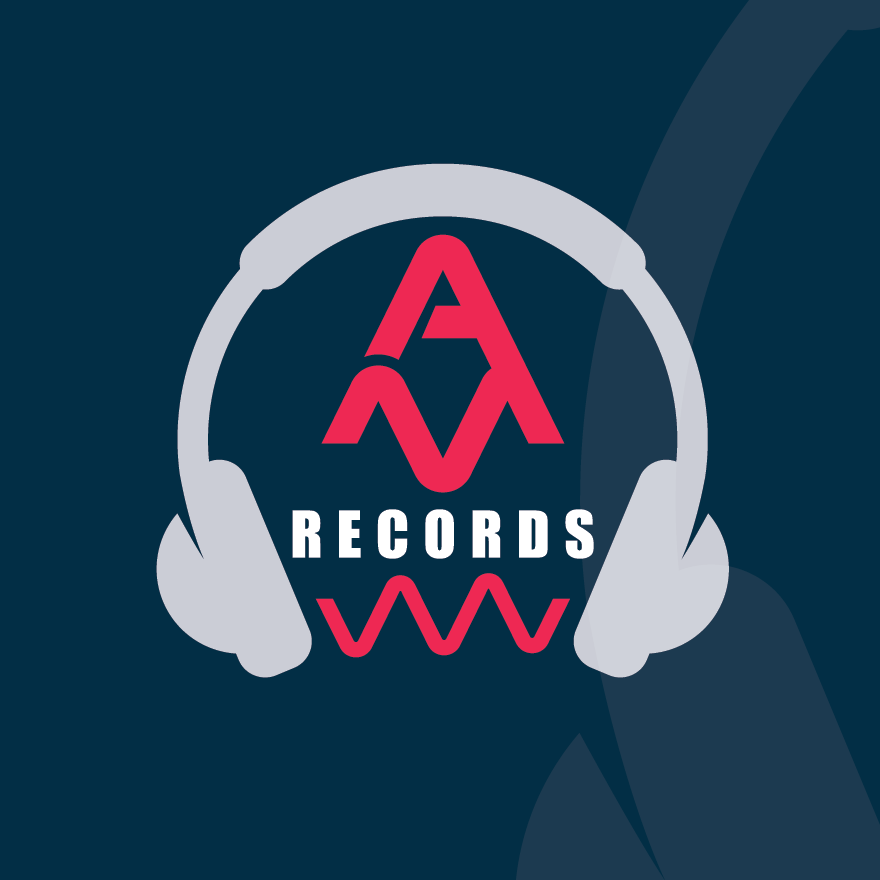 logo featuring headphones and a stylized letter A