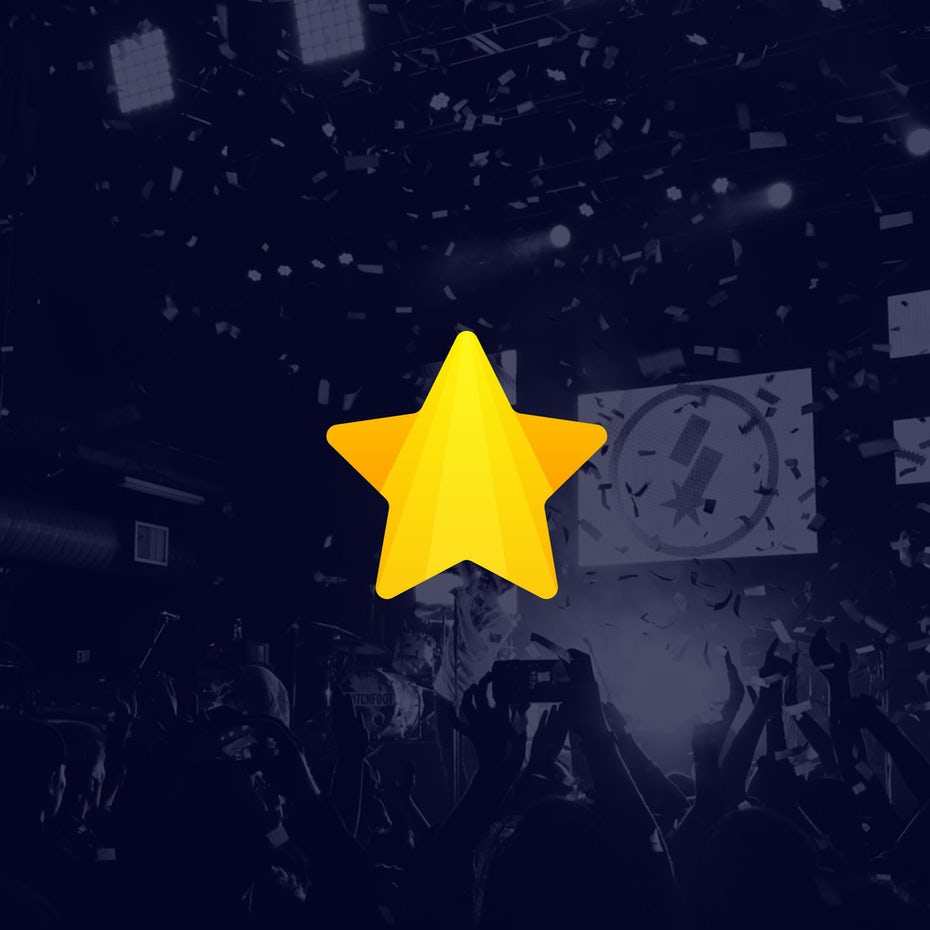 yellow star with a vertical gradient