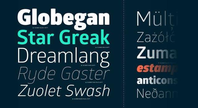 Glober logo font