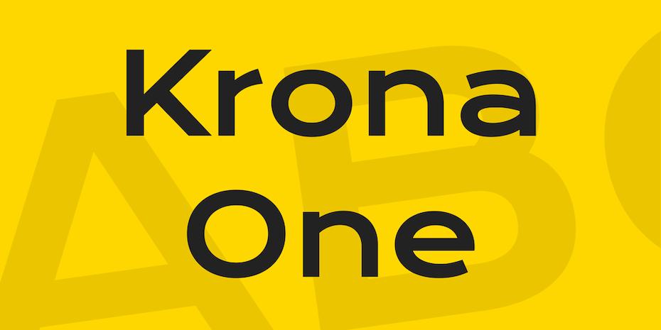 krona one logo font