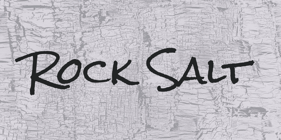 rock salt font logo
