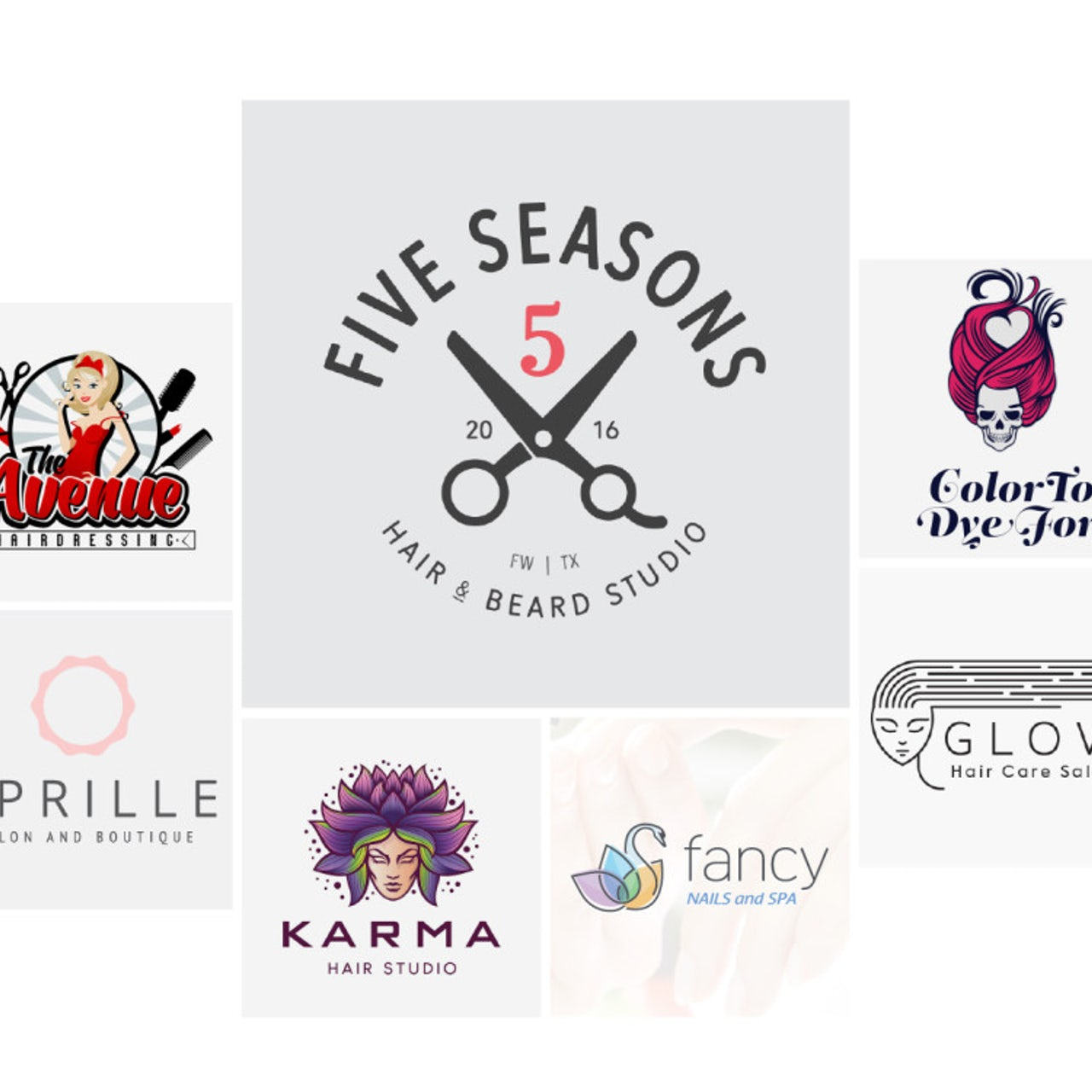17 salon, stylist & hairdresser logos that will make you look your