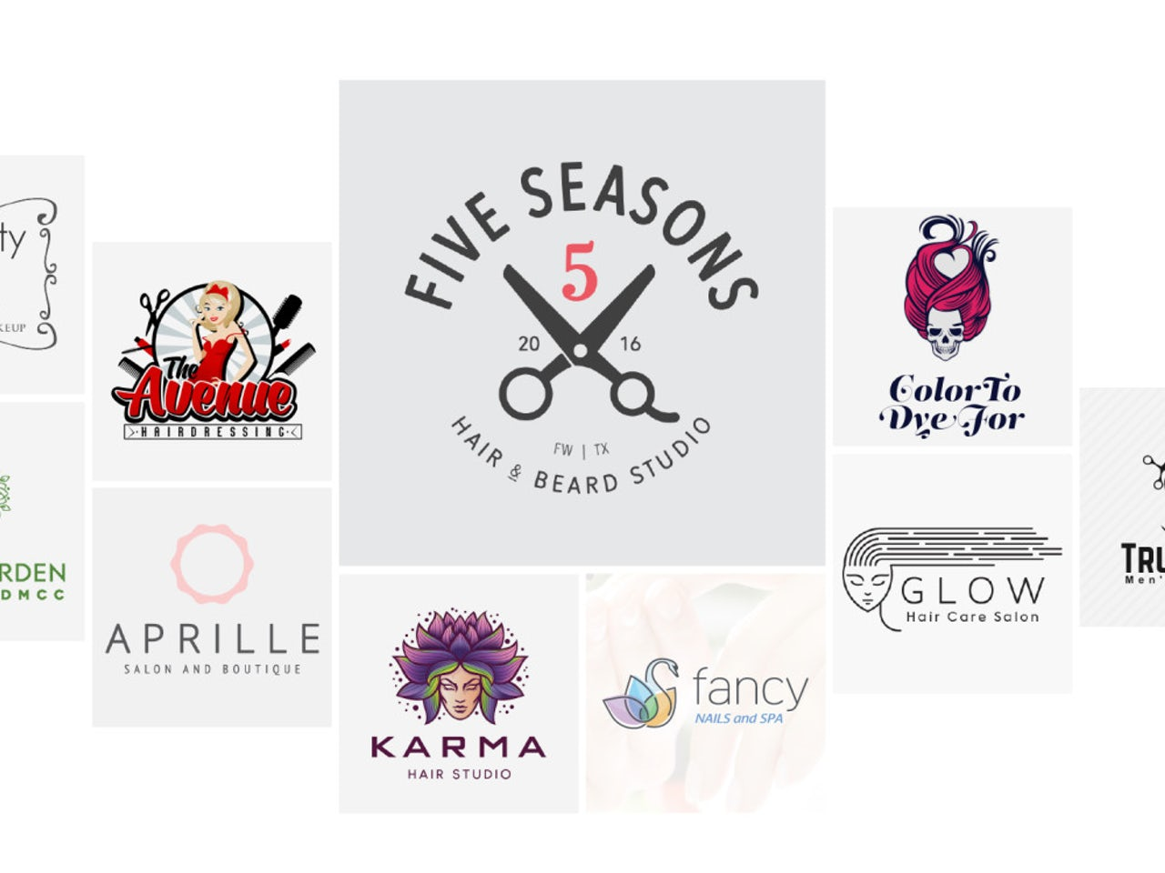 19 salon, stylist & hairdresser logos that will make you look your