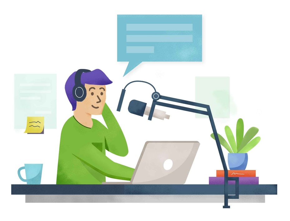 how to make a podcast graphic