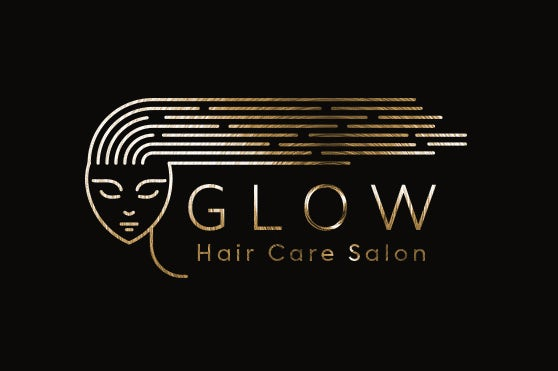 calming and relaxing salon logo