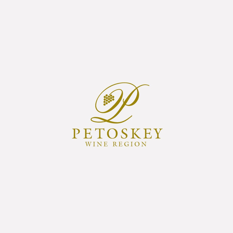 white over gold wine logo
