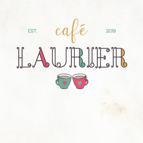 Line art logo design for a French cafe