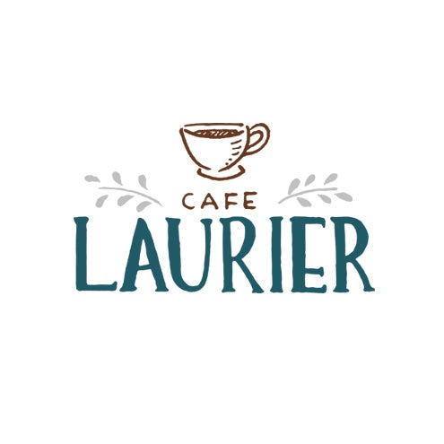 Hand-drawn logo design for a French cafe