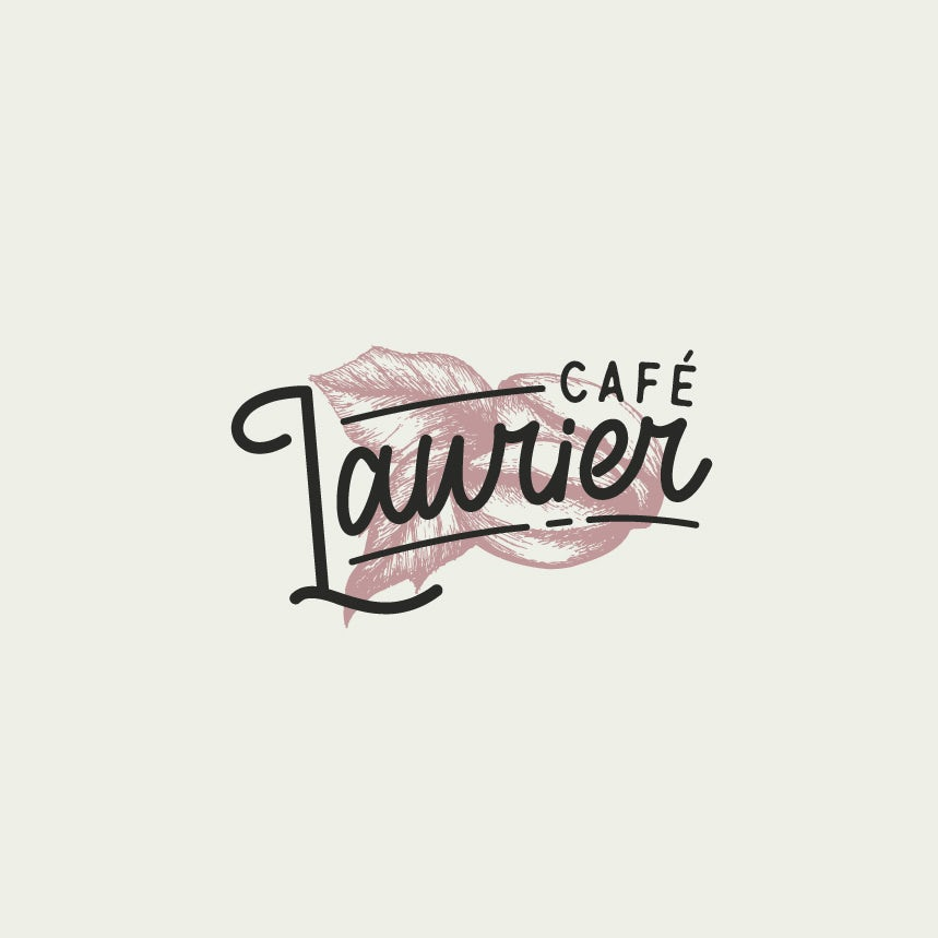 Modern logo design for a French cafe