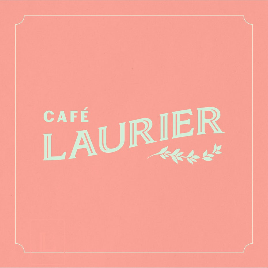 Wordmark logo design for a cafe