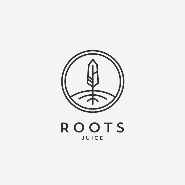 black and white juice logo