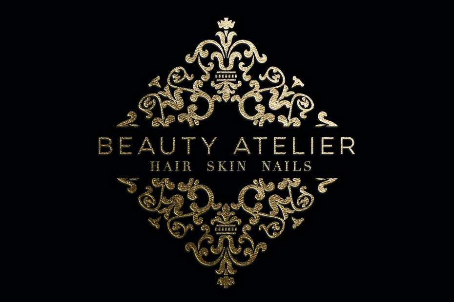 elegant intricate gold salon logo