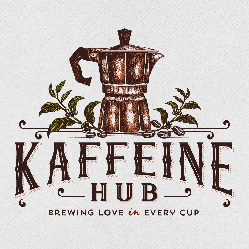 illustrated coffee pot logo