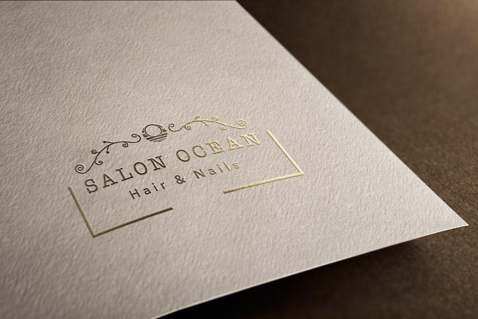 elegant simple gold salon logo