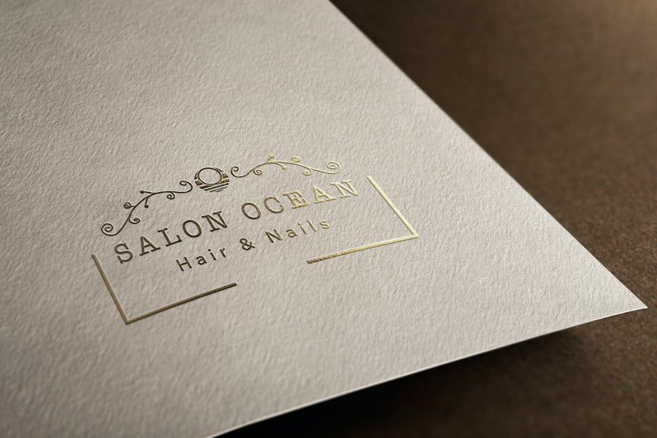 elegant simple gold salon logo