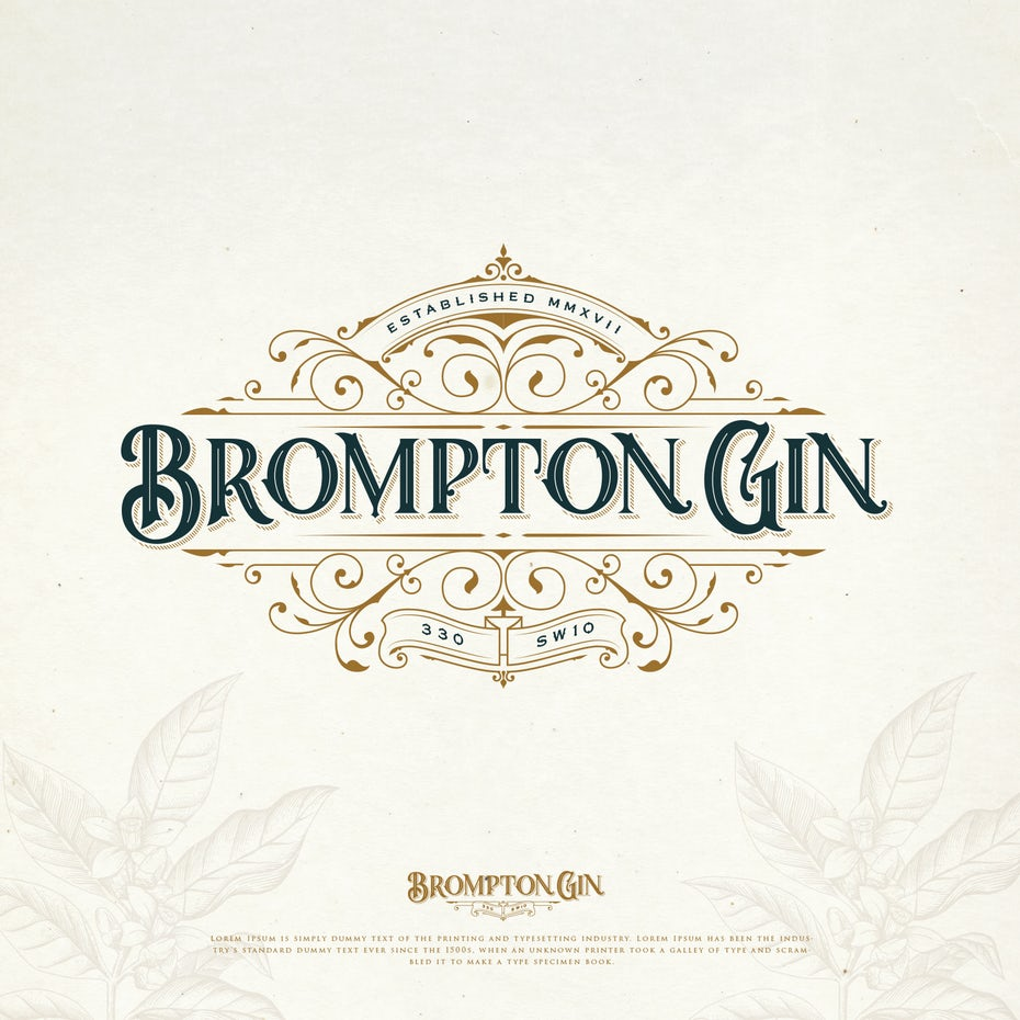 vintage logo for gin brand