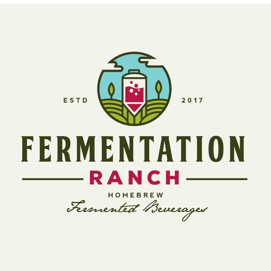 illustrated fermented drink logo