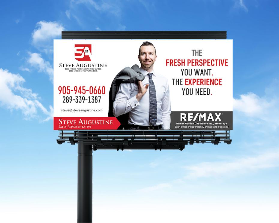 panneau d'affichage pour agent immobilier de luxe