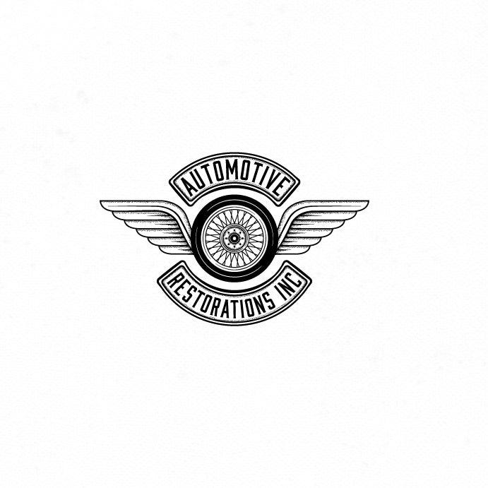 classic monochrome car logo design