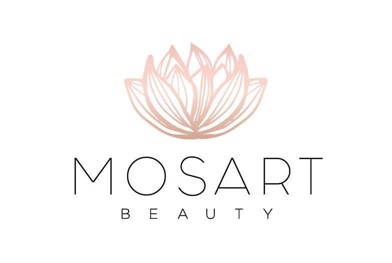 elegant and simple floral water lily salon logo