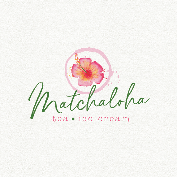 floral water color logo