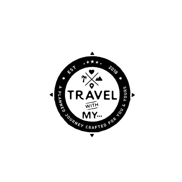 "round logo with the text ""travel with my…"""