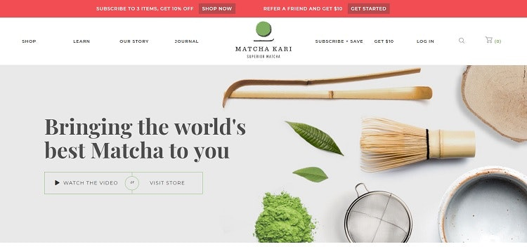 Matcha Kari homepage website