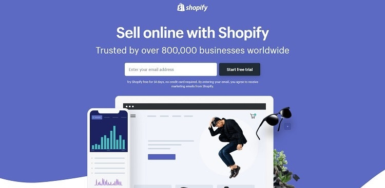 Shopify landing page website