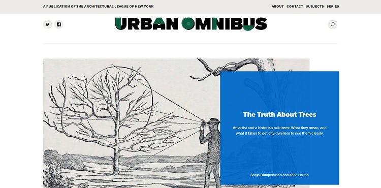 Urban Omnibus magazine website