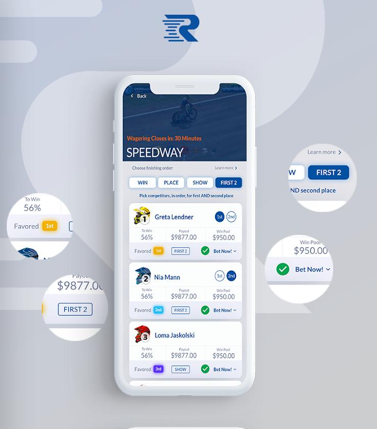 Speedway app design