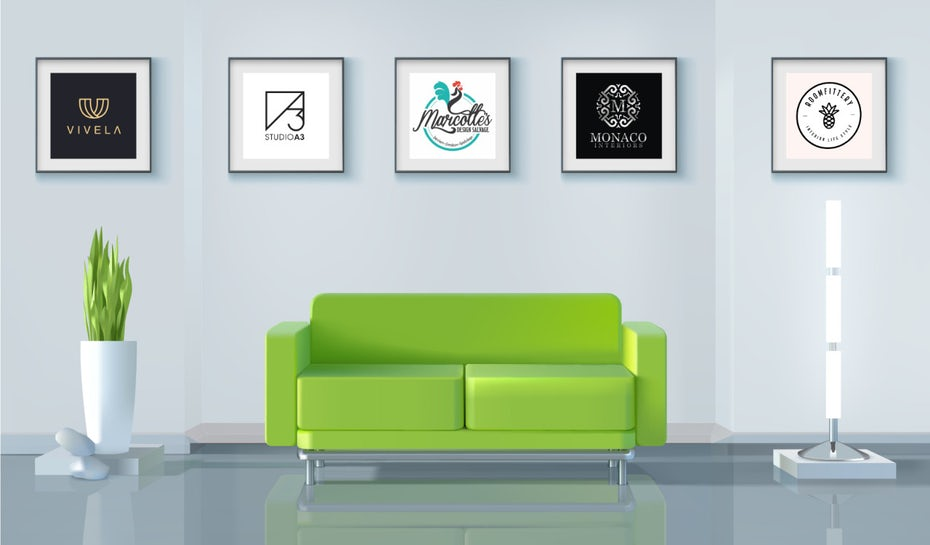 15 interior design and decorator logo ideas for well-furnished success