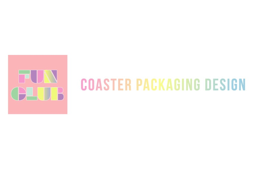 Pastel rainbow gradient packaging design