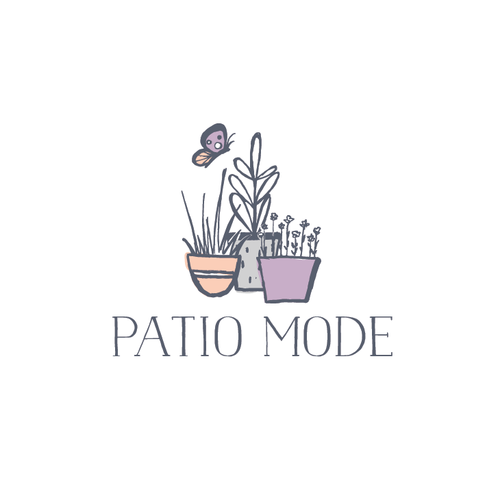 "three potted plants beside each other with the text ""Patio Mode"""