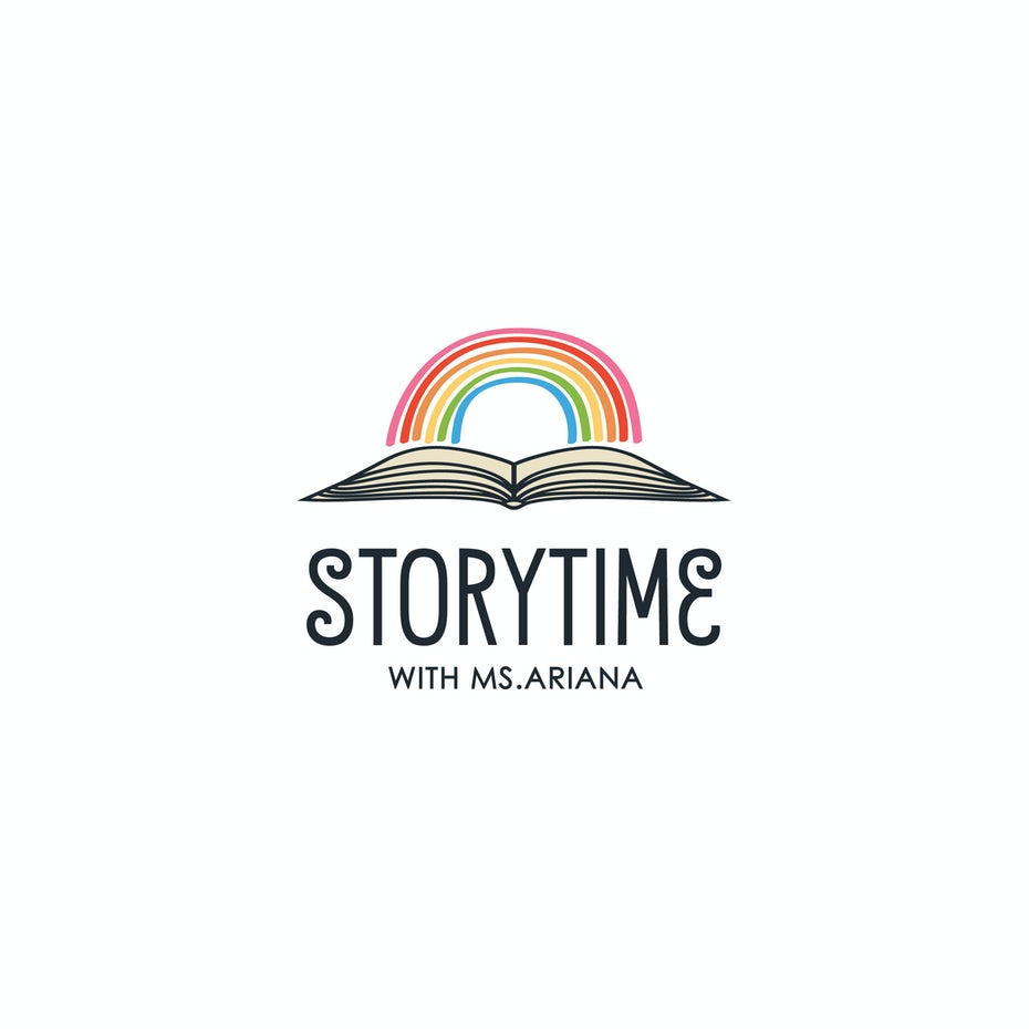 Rainbow logo design for early education