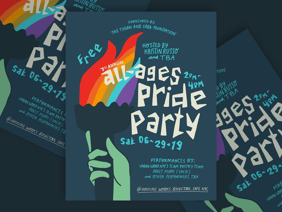Gay Pride rainbow poster design