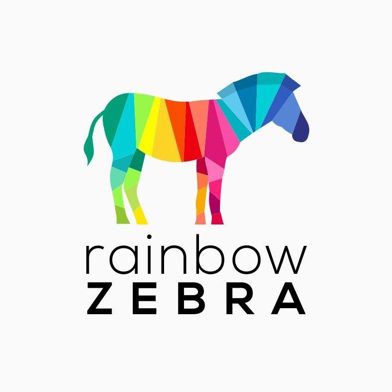 rainbow zebra logo