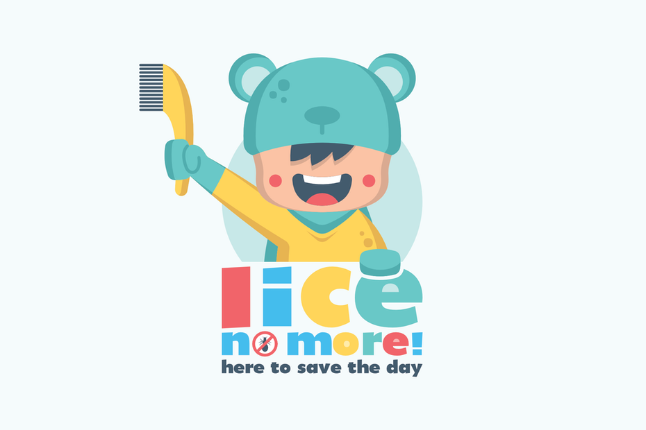 child with comb lice logo