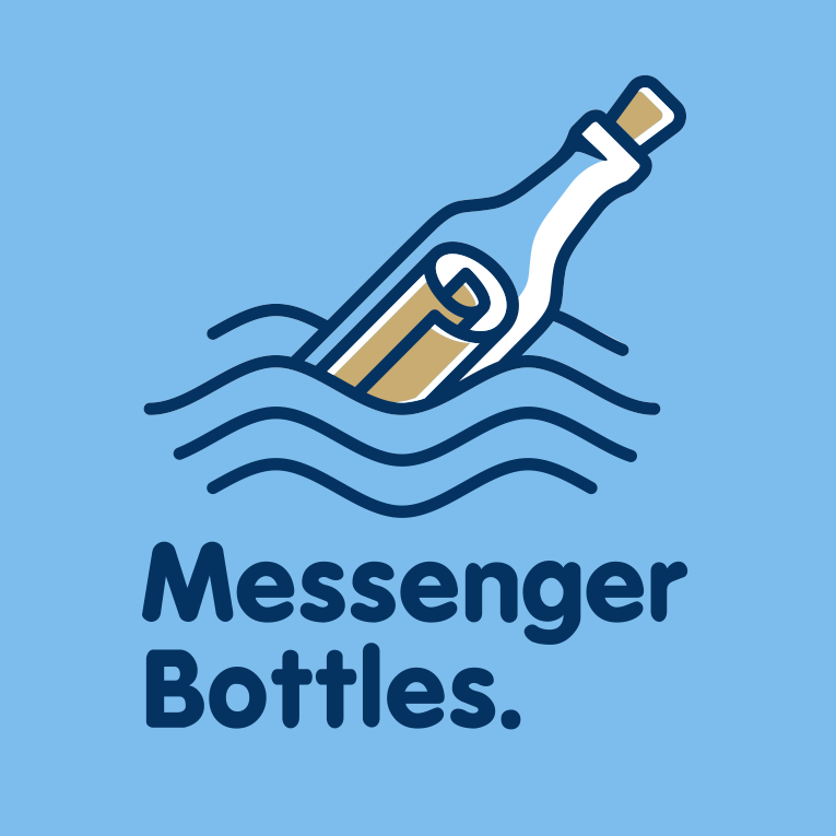 Messenger bottles logo design