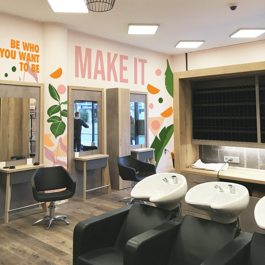 Wall Stickers for beauty salon