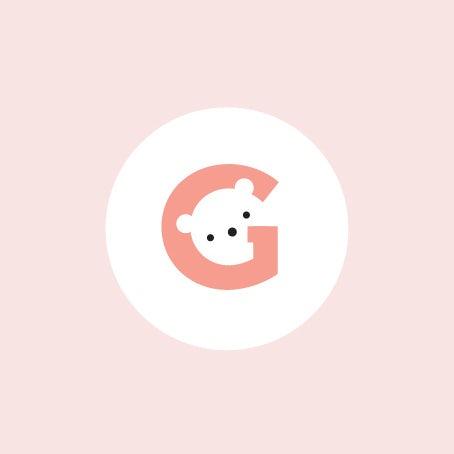 bear inside letter g logo