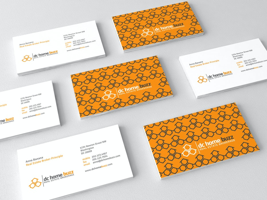 dc home buzz business card design