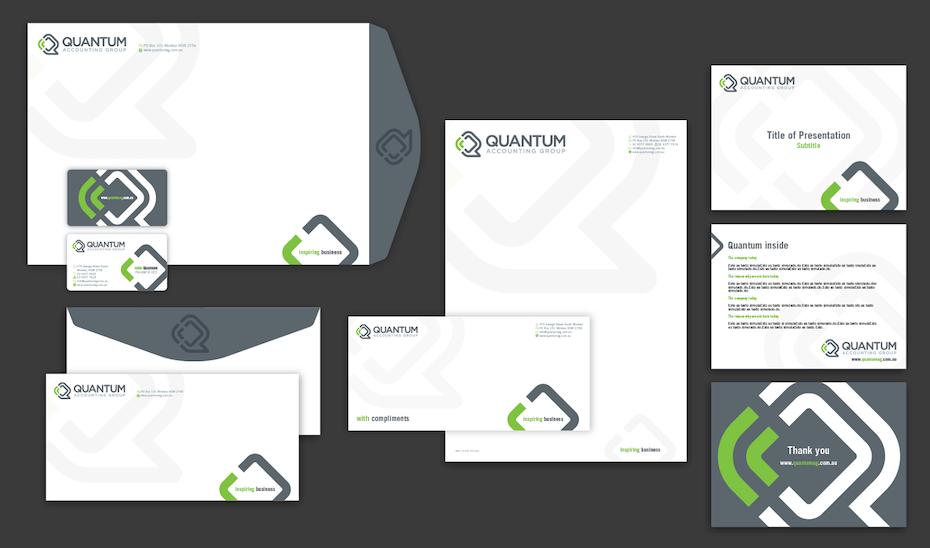 Quantum company presentation design