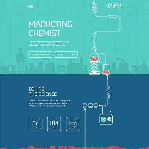 Chemist web page design