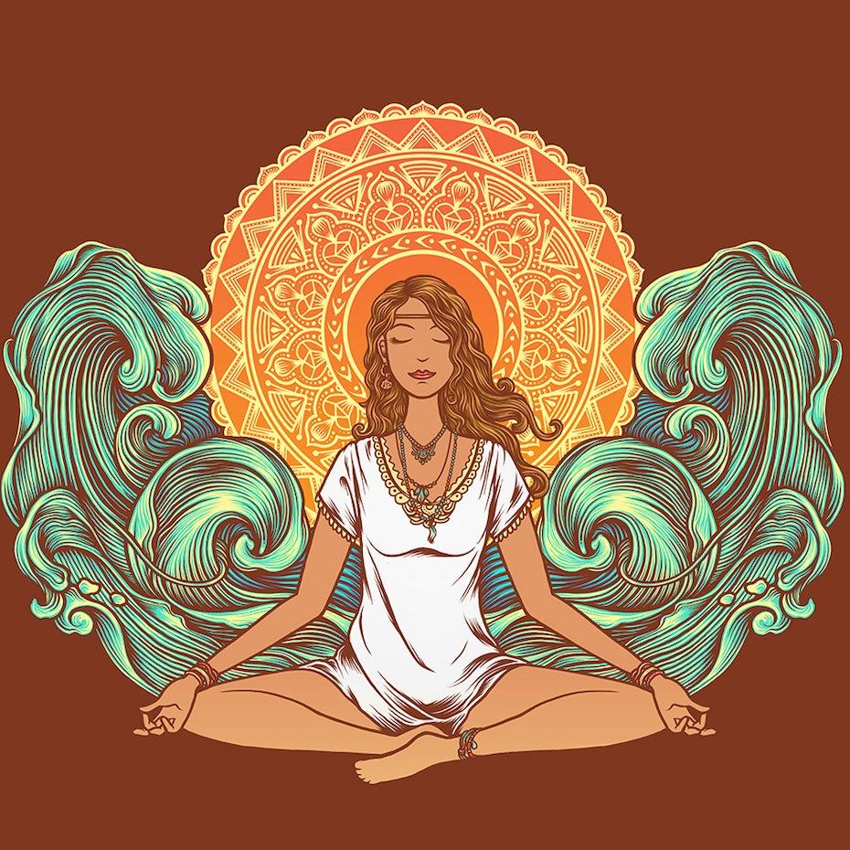 Spiritual t-shirt design