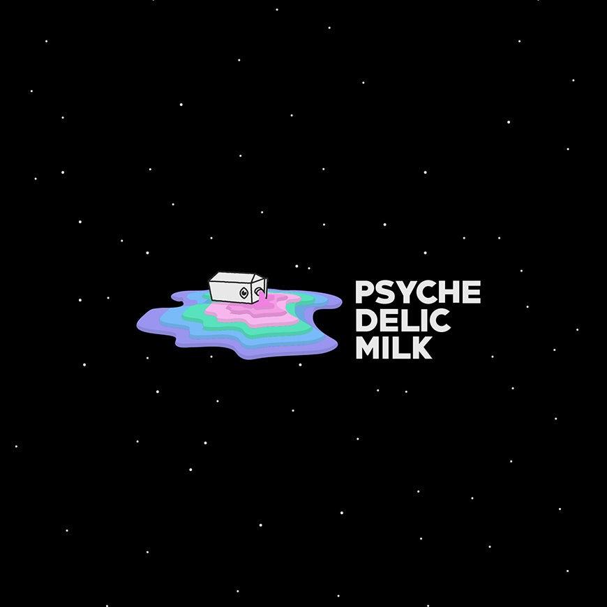 Psychedelic rainbow logo design