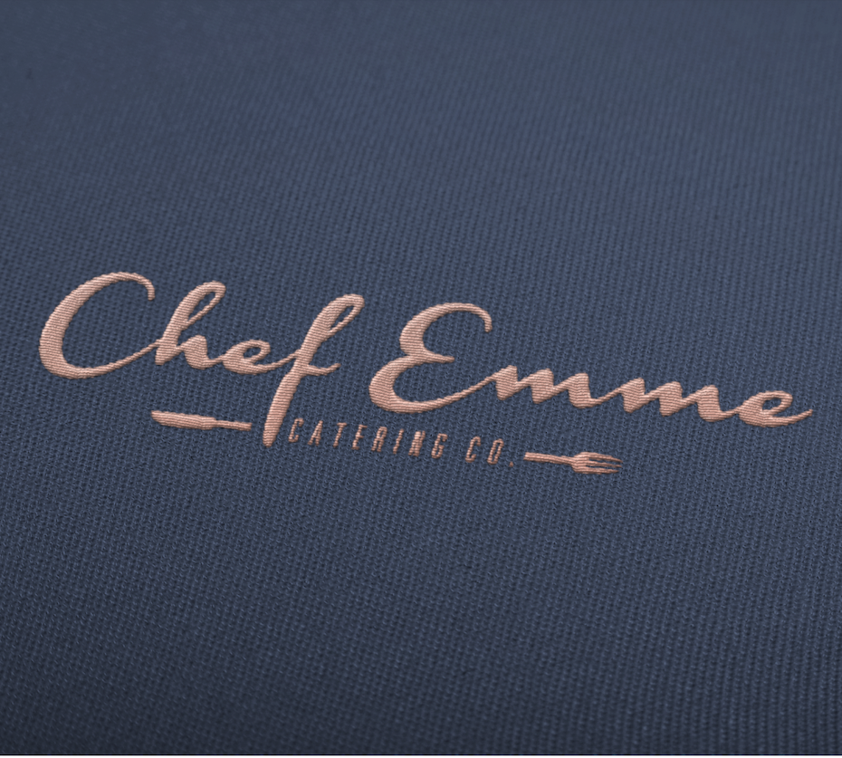 chef emme handlettered wordmark logo